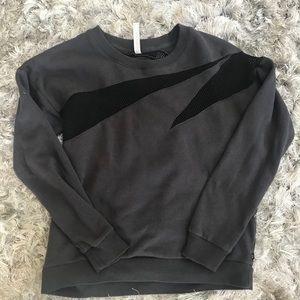 Fabletics Grey Sweatshirt with Mesh Detailing